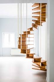 Apartment Stairs Design Decorations Interesting Wooden Slim Hanging Spiral Staircase