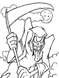 hallowen coloring pages scary halloween coloring pages grim reaper hallowen coloring