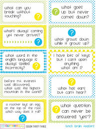 printable lunch jokes and brain teasers