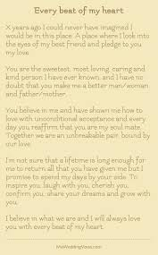 Wedding Wishes Letter For Best Friend Personalized Wedding Vows Best Photos Cute Wedding Ideas