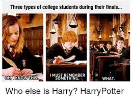 College Finals Meme - three types of college students during their finals ber i m oh know