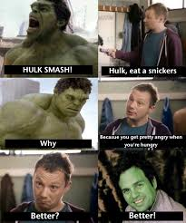 hulk eats snickers snickers hungry commercials know your meme