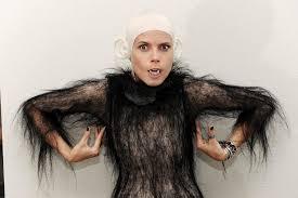 monkey halloween costume heidi klum gets ready for halloween in skin tight bodysuit and