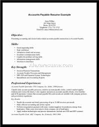 Resume Sample Accounts Payable by Accounts Payable Objective For Resume Free Resume Example And