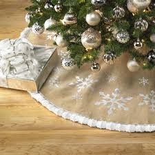 Christmas Tree Skirt Burlap Cable Knit Tree Skirt Best Cable 2017