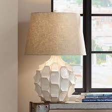 Mid Century Table Lamp Cosgrove Mid Century White Ceramic Table Lamp 2h898 Lamps Plus