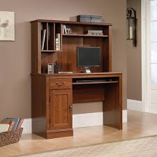 Computer Desks And Hutches Sauder Camden County Computer Desk With Hutch Planked Cherry