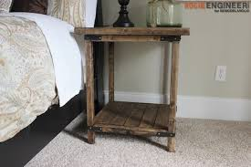 How To Build A Wood End Table by Simple Square Side Table Free Diy Plans Rogue Engineer