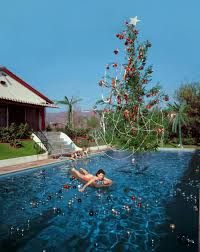 a christmas swim 1955 photographer slim aarons took this picture
