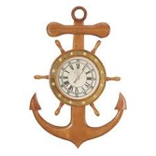 wooden anchor wall shabby chic nautical wooden driftwood style anchor ship wheel boat