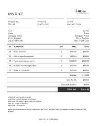 19 blank invoice templates microsoft word tax invoice template