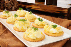 canape de canapes with egg and salad stock photo image of appetizer taste