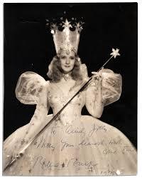 glinda good witch costume lot detail billie burke signed photo u0027 u0027 may your dearest