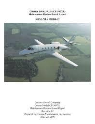 goodrich component maintenance manual cessna model ce 560xl maintenance review board report