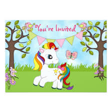 rainbow horse invitations u0026 announcements zazzle