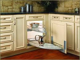 Corner Cabinet In Kitchen Cabinets U0026 Drawer Classic White Paneled Corner Cabinet Pull Out
