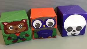 halloween origami boxes werewolf owl skull youtube