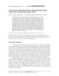 26 images of journal article outline template infovia net