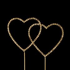 heart wedding cake toppers swarovski wedding cake topper gold heart