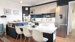cuisine ouverte avec ilot table cuisine îlot central plans conseils d aménagement photos