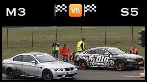 bmw vs audi race drag race bmw m3 vs audi s5