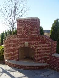 Building An Outdoor Brick Fireplace by Dark Red Brick Outdoor Corner Fireplace Fireplace Pinterest