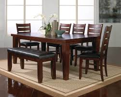 dark wooden dining room furniture with bench howiezine