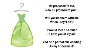 asking bridesmaids poems pop the question mr and mrs h