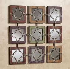 decorating 9 piece small square wall decor mirrors with metal