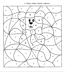 color by number christmas coloring pages