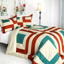 Jets Bedding Set Sicily Quilted Patchwork Down Alternative Comforter Set Twin Size