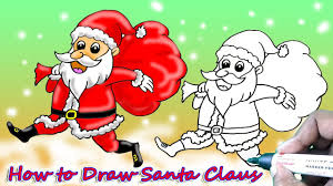 how to draw santa claus simple and easy art and shade how to draw