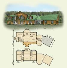 hawks nest log home and log cabin floor plan home style