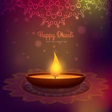 diwali card with ornaments in background vector free
