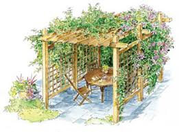 Backyard Arbors How To Build A Pergola For Backyard Shade Diy Mother Earth News