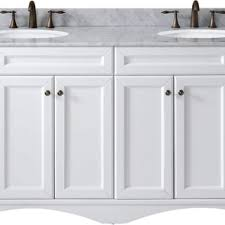 72 Inch White Bathroom Vanity by Virtu Usa Talisa 72 Inch Double Sink White Carrara Marble