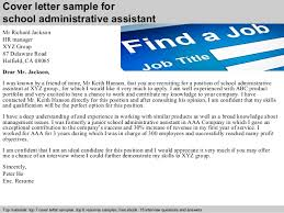 administrative assistant cover letter school administrative assistant cover letter