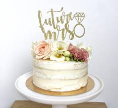 mrs mrs cake topper future mrs cake topper miss to mrs bridal shower cake topper