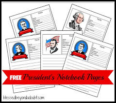 free printable coloring pages of us presidents free notebook pages to learn all the presidents of the us and