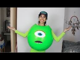 Monsters Inc Costumes Diy Halloween Costume Mike Wazowski Monsters Inc Youtube
