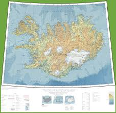 Topographic Map Of The World by Topographic Map Of Iceland