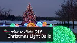 Diy Christmas Lights by How To Make Christmas Light Balls Youtube