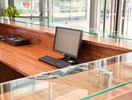 Premia Laminate Flooring Bespoke Veneer Reception Desk