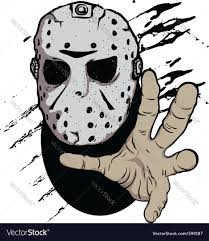 halloween vectors free horror hockey mask halloween royalty free vector image