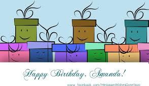 happy birthday amanda clipart collection
