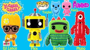 yo gabba gabba funko pop toys muno plex u0026 brobee
