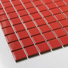 online shop porcelain mosaic red shiny small square ceramic tile