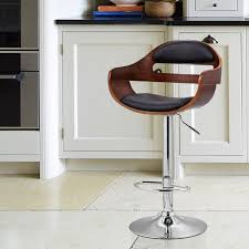 Designer Bar Stools Kitchen by Amazon Com Joveco 360 Degree Swivel Adjustable Modern Leather