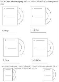 kitchen measuring chart worksheets u2013 kids cooking activities