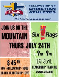 Six Flags Schedule South Los Angeles Fca Training